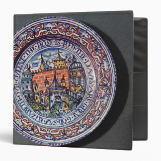 Delft plate with views of the Tower of London Binder