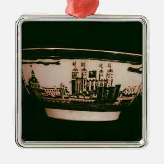 Delft plate with views of the Tower of London Metal Ornament
