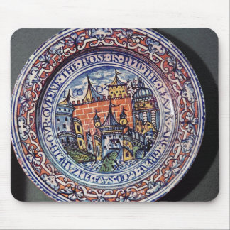 Delft plate with views of the Tower of London Mouse Pad