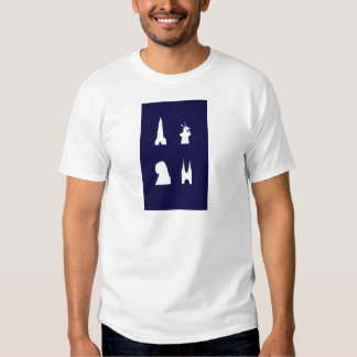 Delft silhouette on blue shirt