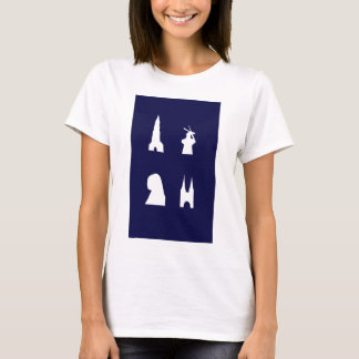 Delft silhouette on blue T-Shirt
