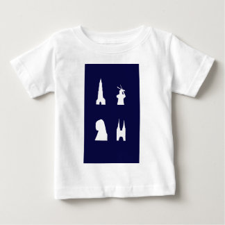 Delft silhouette on blue tee shirt