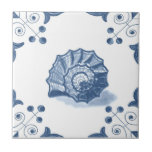 "Delft Spiral Shell Tile with Scroll Corners<br><div class=""desc"">Blue and white tile reproduced on a smooth surface 4.25&quot; or 6&quot; ceramic tile. Perfect for interior tile wall accents, backsplashes, fireplace surrounds, bathroom and showers walls, kitchens and craft projects. Not intended for outdoor use. Our tiles are copies of costly authentic original antique tiles. Suggestion: Order one tile to...</div>"