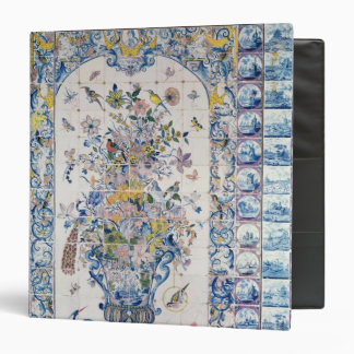 Delft tile panel from the bathroom binder