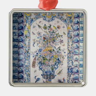 Delft tile panel from the bathroom metal ornament