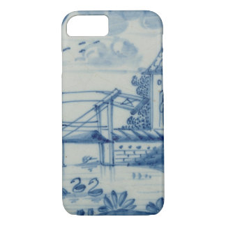Delft tile showing a drawbridge over a canal, 19th iPhone 8/7 case