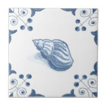 "Delft Whelk Tile with Scroll Corners<br><div class=""desc"">Blue and white tile reproduced on a smooth surface 4.25&quot; or 6&quot; ceramic tile. Perfect for interior tile wall accents, backsplashes, fireplace surrounds, bathroom and showers walls, kitchens and craft projects. Not intended for outdoor use. Our tiles are copies of costly authentic original antique tiles. Suggestion: Order one tile to...</div>"