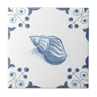 Delft Whelk Tile with Scroll Corners