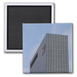 Delftse Poort, Rotterdam 2 Inch Square Magnet