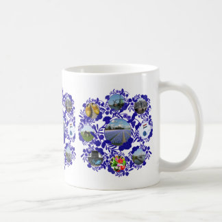 Delftware/ Delft Blue Style Holland Classic White Coffee Mug