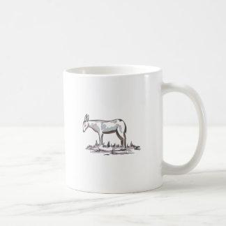 DELFTWARE DONKEY CLASSIC WHITE COFFEE MUG