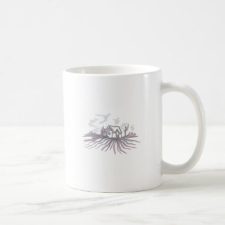 DELFTWARE HOUSE CLASSIC WHITE COFFEE MUG