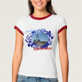 Delftware Pattern Greetings from Holland Rotterdam T-Shirt