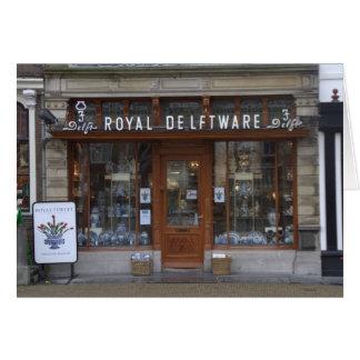 Delftware shop in Delft Card