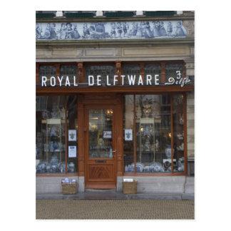 Delftware shop in Delft Postcard