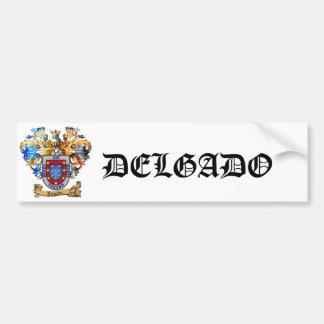 Delgado Coat of Arms Bumper Sticker