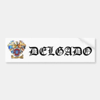 Delgado Coat of Arms Bumpersticker Bumper Sticker