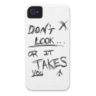 Delgado: No parezca negro en blanco Case-Mate iPhone 4 Carcasas