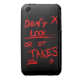 Delgado: No parezca rojo en negro Case-Mate iPhone 3 Carcasa