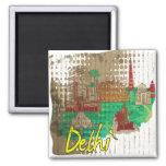 Delhi 2 Inch Square Magnet
