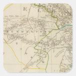 Delhi, Agrah, Oude, Ellahabad del sur Pegatina Cuadrada