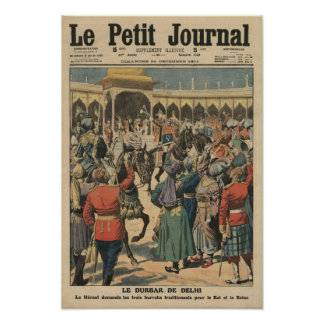 Delhi Durbar, illustration from 'Le Petit Poster