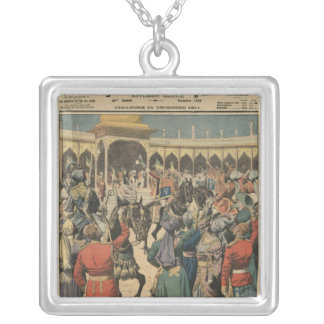 Delhi Durbar, illustration from 'Le Petit Silver Plated Necklace