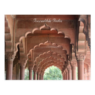 delhi fort archways postcard