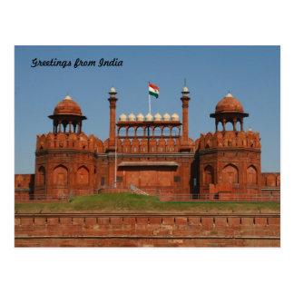 delhi fort postcards
