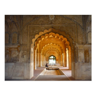 delhi fort red archways postcard