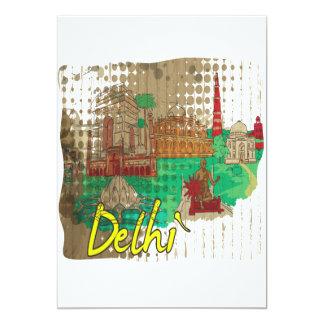 """Delhi Invitación 5"""" X 7"""""""