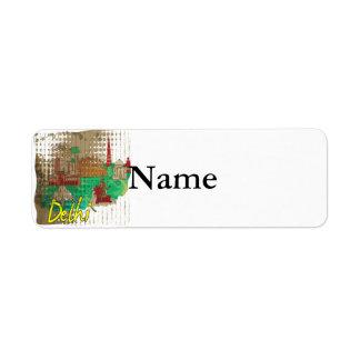 Delhi Custom Return Address Labels