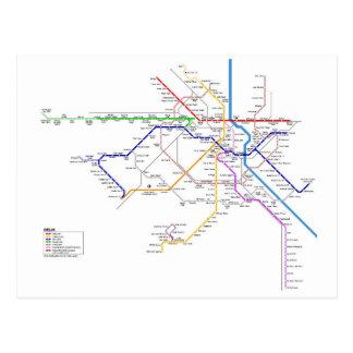 Delhi subway system postcard