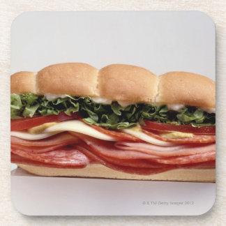 Deli sandwich beverage coaster