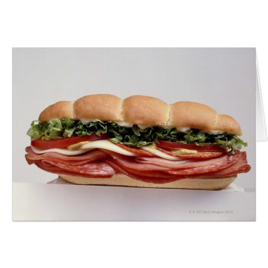 Deli sandwich card