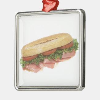 Deli Sandwich Metal Ornament