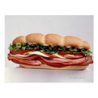 Deli sandwich postcard