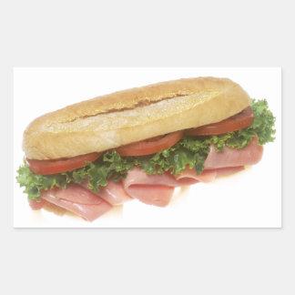Deli Sandwich Rectangular Sticker