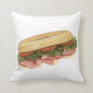 Deli Sandwich Throw Pillow
