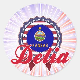 Delia, KS Etiqueta Redonda