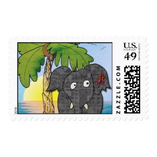 Delia the elephant postage