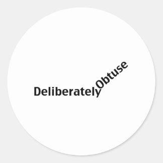 Deliberately Obtuse Round Sticker