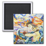 Deliberation of Poignancy 2 Inch Square Magnet