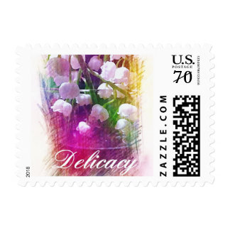 """'Delicacy' Botanical """"Lily of the Valley"""" Pastel Postage"""