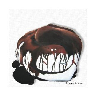 Delicadeza del chocolate lona envuelta para galerias