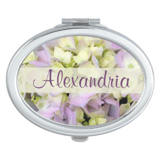 Delicate and Feminine Hydrangea Blossoms Mirror For Makeup