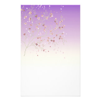 Delicate and Feminine Purple with Tree Stationery