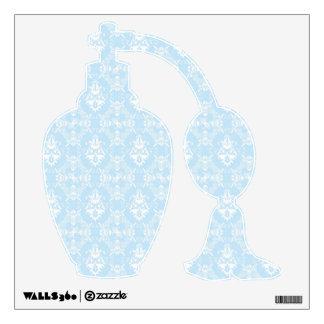 Delicate Aqua Damask Pattern Wall Sticker