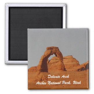 Delicate Arch 2 Inch Square Magnet
