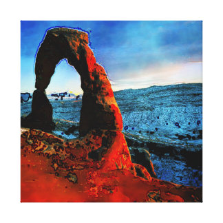 Delicate Arch Abstract Canvas Print